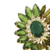 Huge Delizza & Elster Flower Brooch