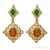 Exquisite Panetta Open Back Pendant Earrings