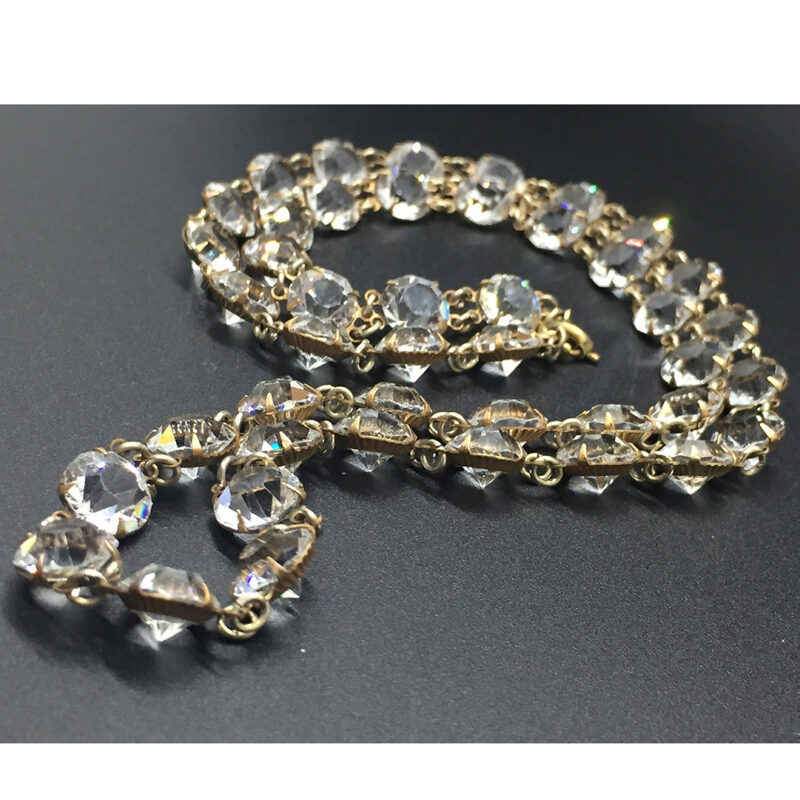 Deco-style Openback Crystal necklace