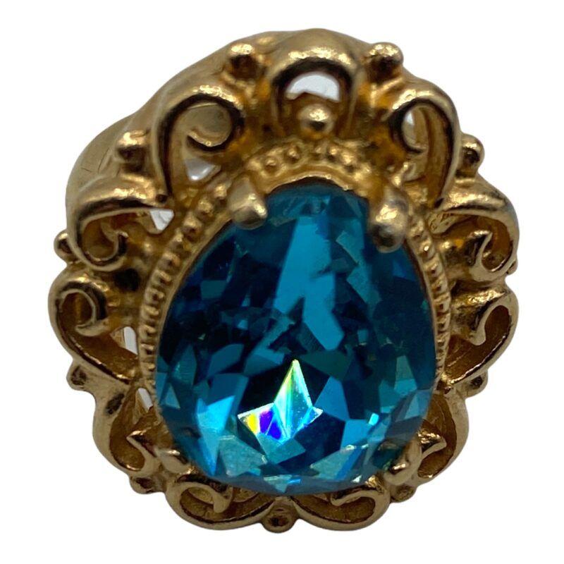 Avon Blue Stone Costume Cocktail Ring