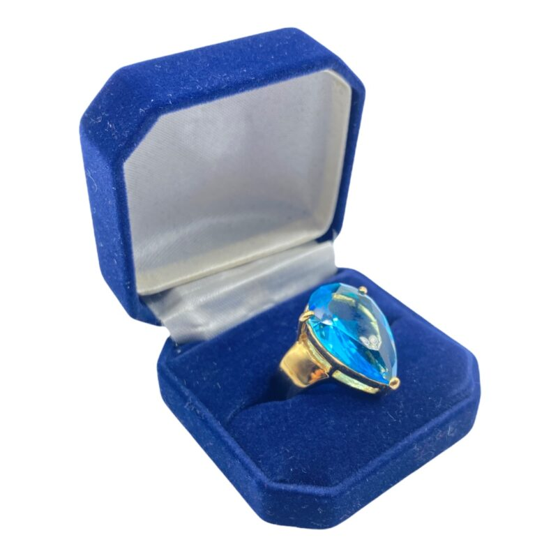 Gorgeous Faux Blue Sapphire Costume Ring