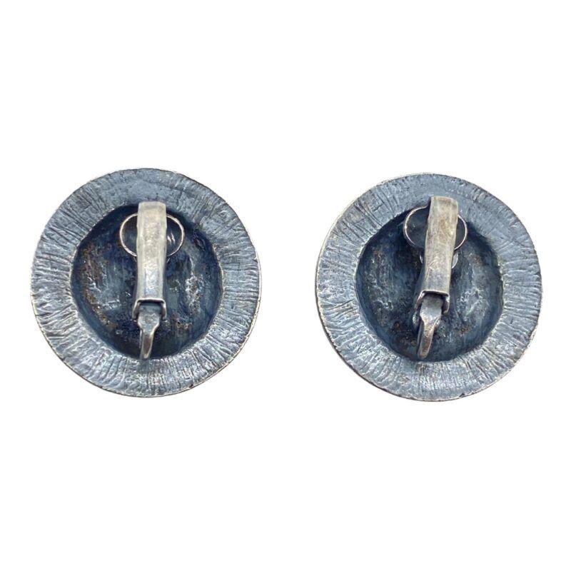 Roman Coin Silver-tone Costume Earrings