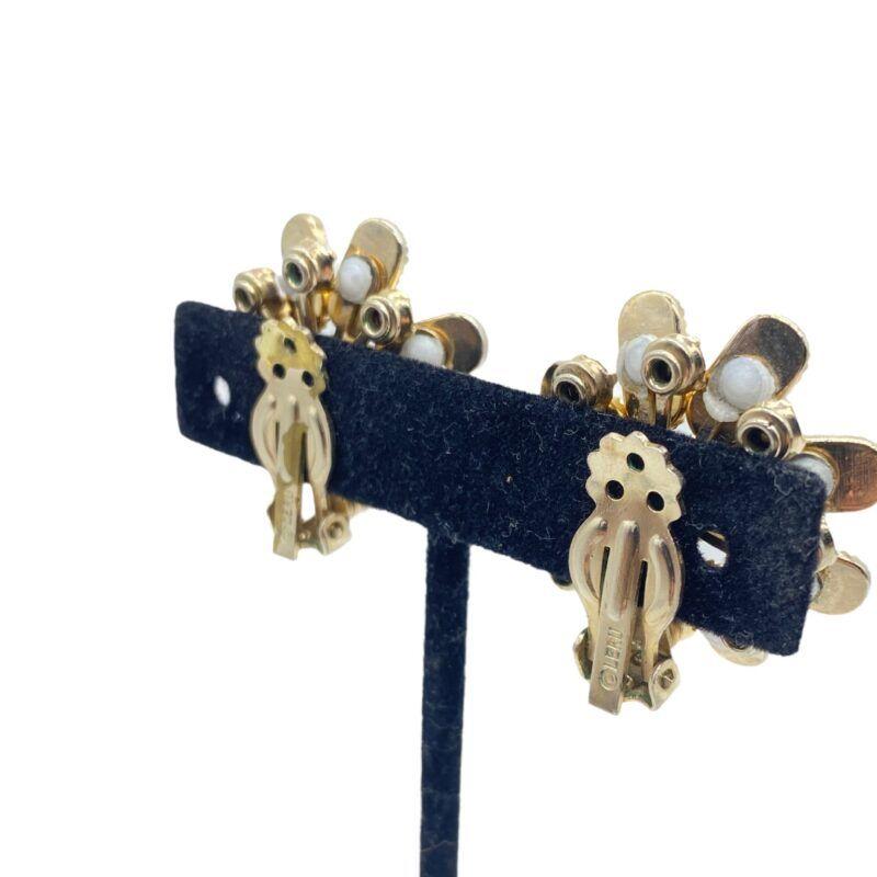 Leru floral clip-back earrings