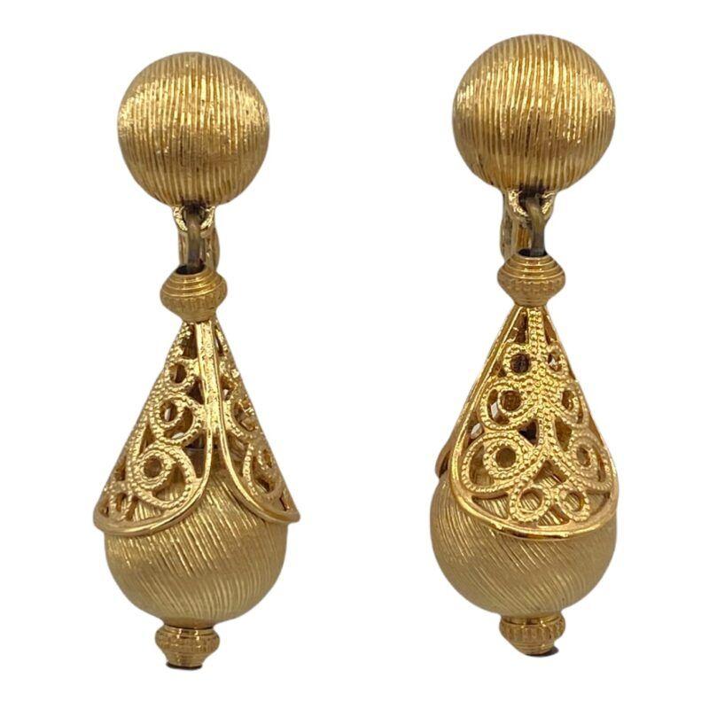 Monet Bolero Series Gold-tone Drop Earrings