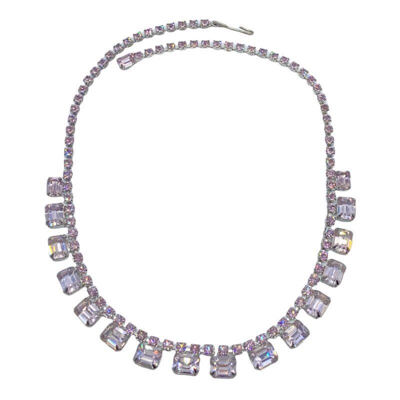 Weiss Alexandrite Rhinestone Collar Necklace